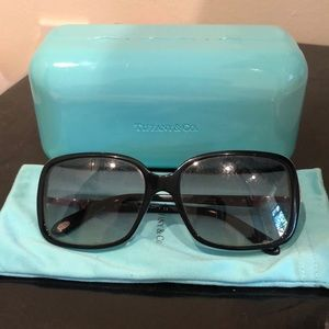 Tiffany & Co. Side Key Sunglasses with Crystals
